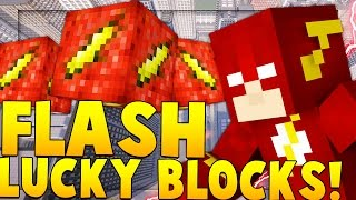 FLASH SUPER HERO LUCKY BLOCK MOD CHALLENGE (Flash VS Zoom) | Minecraft - Lucky Block Mod