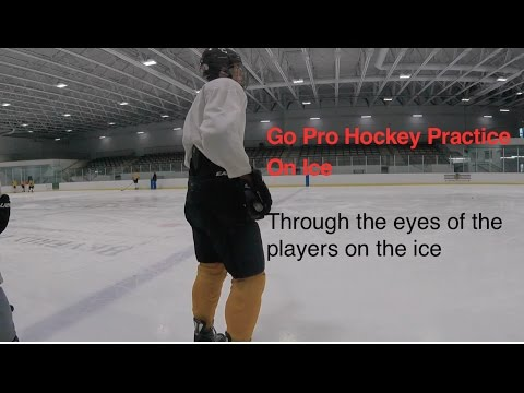 Go Pro Hockey: Mount Carmel Caravan (Chicago IL) Typical on ice practice.