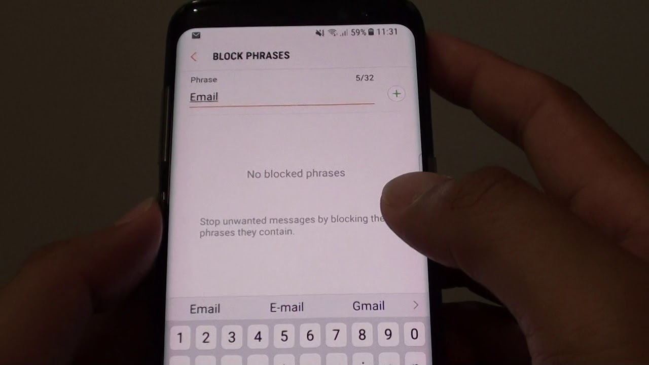 Samsung Galaxy S8: How to Block Spam Text Messages With Block Phrase