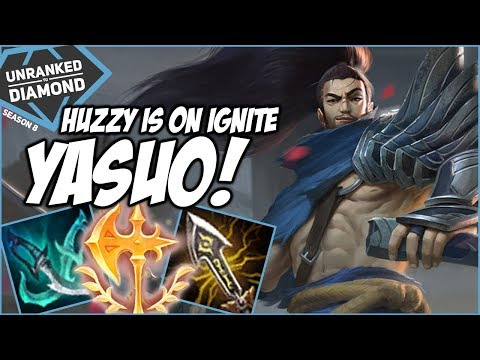 HUZZY ON IGNITE YASUO TOP! - Unranked to Diamond - Ep. 144 | League of Legends thumbnail