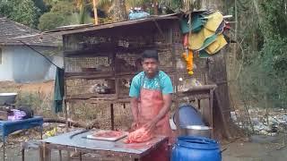 Индия Гоа - как разводят рыбу - рыбалка - разделка курицы