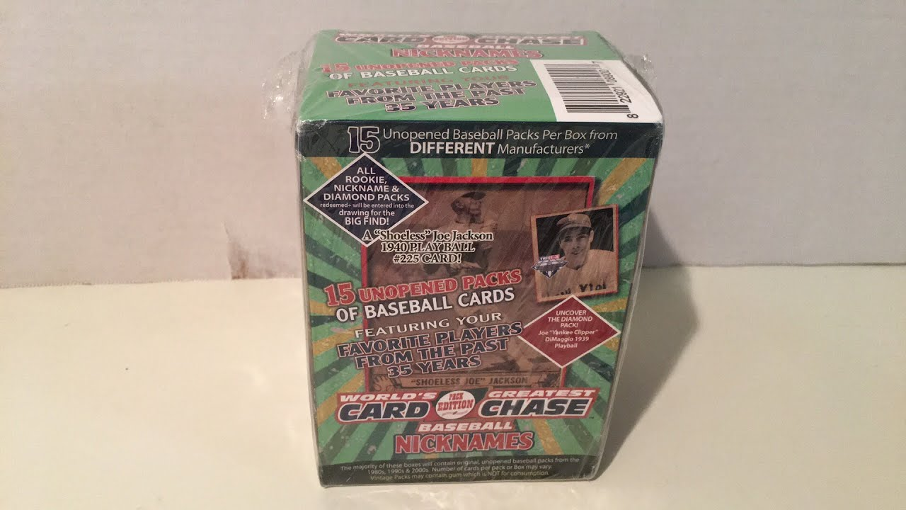 Searching For Shoeless Joe In This Worlds Greatest Card Chase Box Break Giveaway