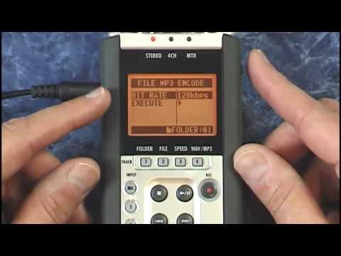 Zoom H4n Tutorial Review MP3 Encode Encoding