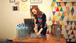 Оксана Матяш. Пуф из пластиковых бутылок