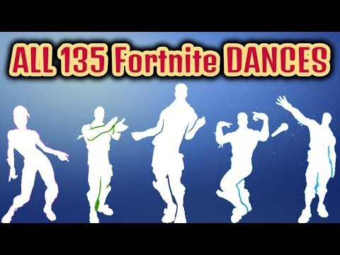 ALL 135 Fortnite Dances/Emotes [Season 1 To 7]