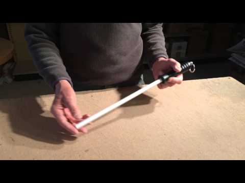 Demo on how to sharpen knives with the Idahone Ceramic Honing Rod