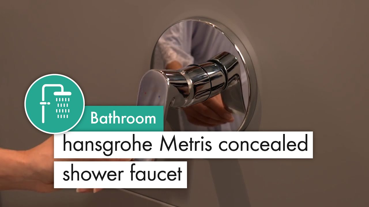hansgrohe Metris concealed shower mixer - YouTube