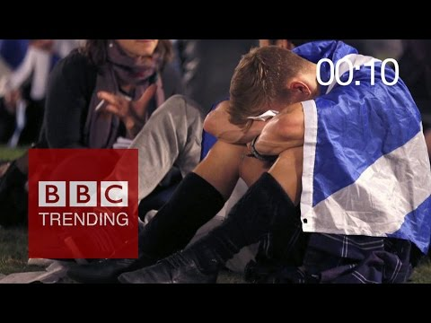 Scottish referendum: 60 sec after result was announced