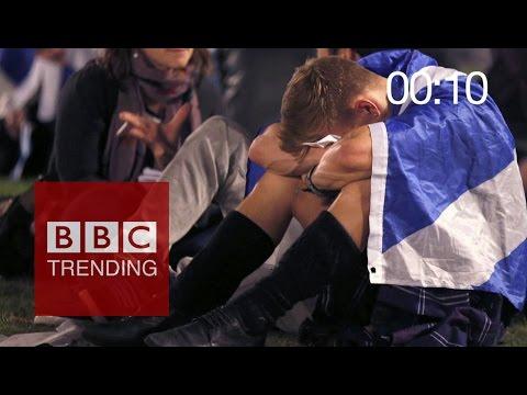 Scottish referendum: 60 sec after result was announced