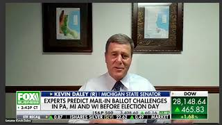 Sen. Daley joins Fox Business to discuss voting, Election Day