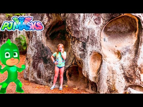 PJ MASKS DISNEY Assistant Cave Search for Gekko Owlette and Catboy Toys