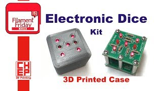 Velleman Electronic Dice Soldering Kit With 3D Printed Case