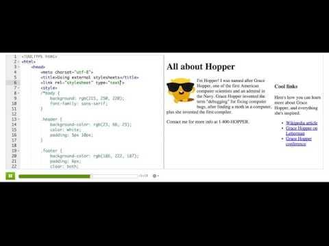 Using external stylesheets | Computer Programming | Khan Academy