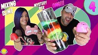 MIXING SLIME BLINDFOLDED MYSTERY BOX #4!! Mezclamos Slimes a ciegas de la Mystery Box 4