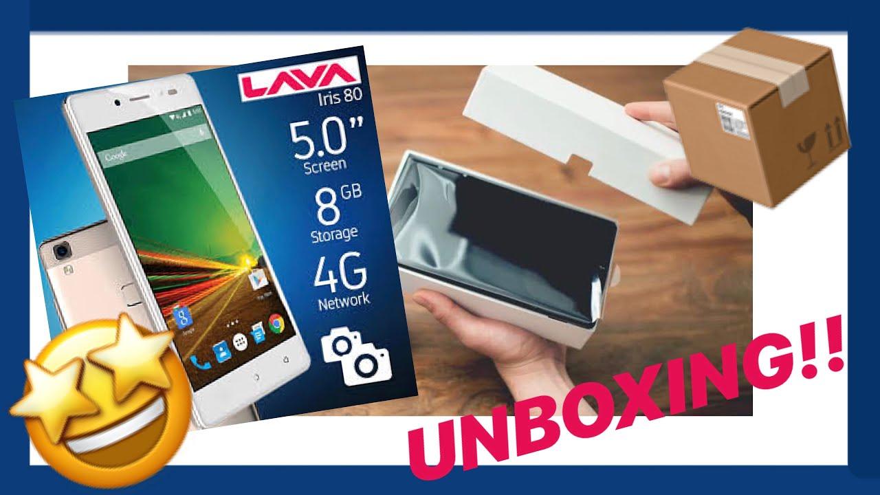 Unboxing - LAVA iris80 - Celular - Dual sim