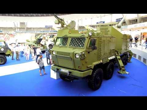 Self-Propelled Artillery Static Display at Partner 2017 Arms Expo, Belgrade