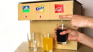 К�К СДЕЛ�ТЬ �ВТОМ�Т ИЗ К�РТО�� ДЛЯ ТР�Х Р�З�ЫХ ��ПИТКОВ  - Coca Cola, Fanta, Sprite Machine