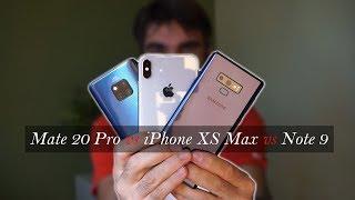 Huawei Mate 20 Pro vs iPhone XS Max vs Galaxy Note 9, ¿Cuál es mejor elegir?