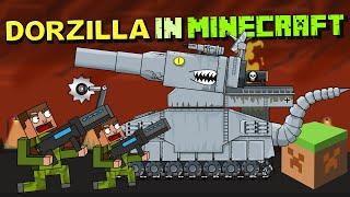 """Dorzilla in Minecraft"" - Cartoons about tanks"