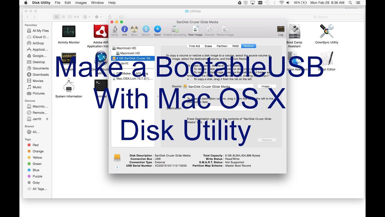 Mac burn iso to usb disk utility | Burn ISO to USB or