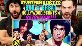 STUNTMEN React To Bad & Great HOLLYWOOD STUNTS 4 - REACTION!!!