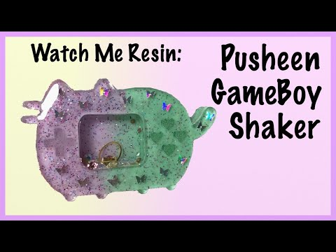 Watch Me Resin: Pusheen Gameboy Dry Shaker