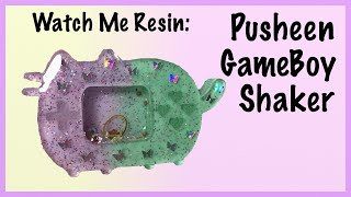 Watch Me Resin: Pusheen Gameboy Dry Shaker