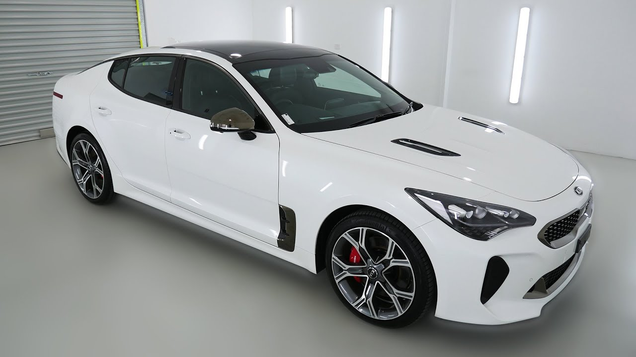 Kia Stinger Gt Snow White Pearl Auto Sedan K008613 Youtube
