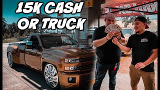 GIVEAWAY WINNER MAKES FINAL DECISION! 15K CASH OR TRUCK!!