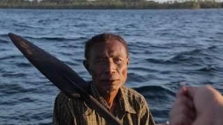 Shark hunters in Papua New Guinea