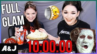 10 MINUTE MAKEUP CHALLENGE. LOSER GETS A PIE IN THE FACE