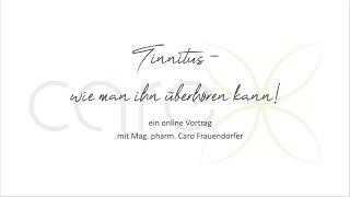 "Online Vortrag ""Tinnitus - wie man ihn überhören kann"", Meditation, Tinnitus, Resilienz, innere Ruhe"