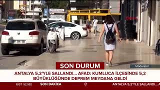 Antalya'da 5.2 büyüklüğünde deprem