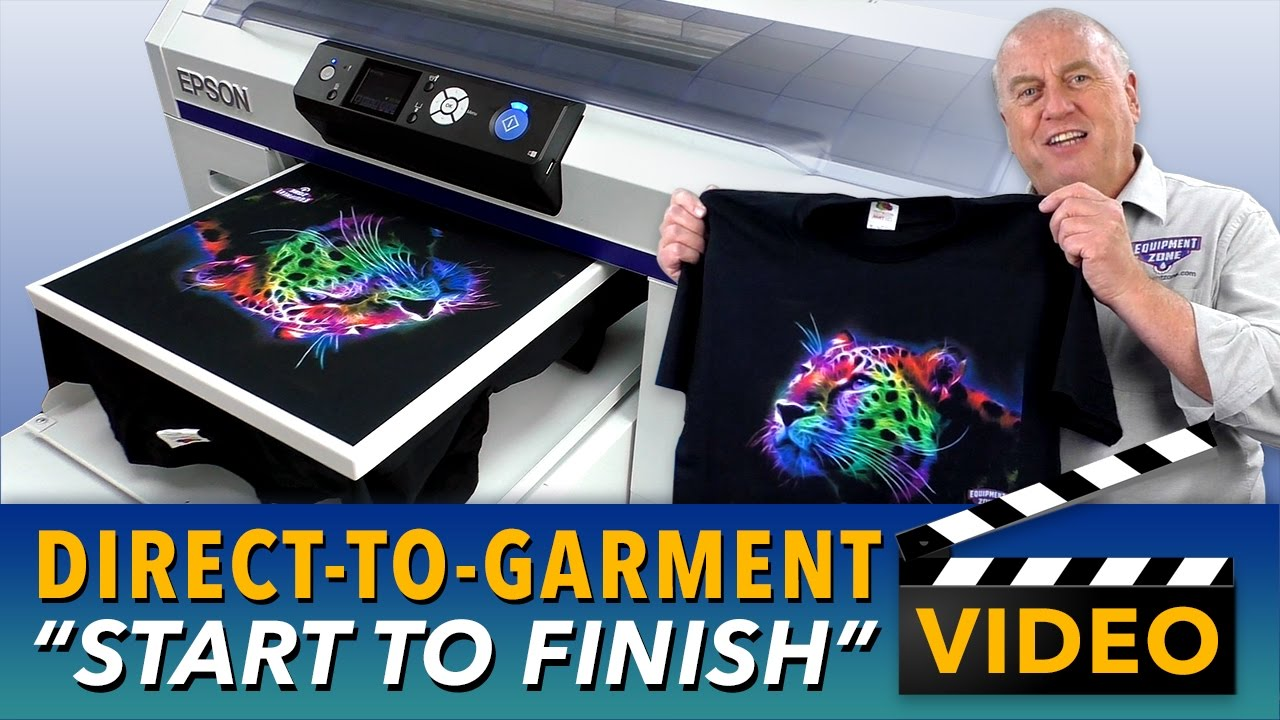 b432de6c9 Epson SureColor F2000 Direct To Garment Printing Start to Finish - YouTube