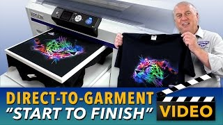 Epson SureColor F2000 Direct To Garment Printing Start to Finish
