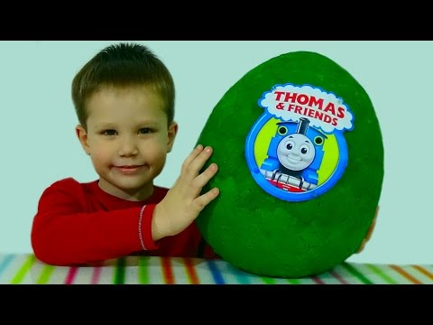 Thumbnail: Паровозик Томас и друзья яйцо с сюрпризом игрушки Giant surprise egg Thomas and friends toys