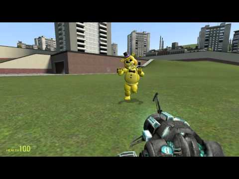 Обзоры аддонов Garrys mod #2 Мишка Фредди 2,Пушки Сэма
