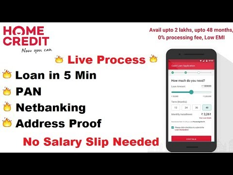 HomeCredit: Instant Personal Loan Upto 2 Lakh In 5 Mins | Pan Card Loan | Check Your Eligibility