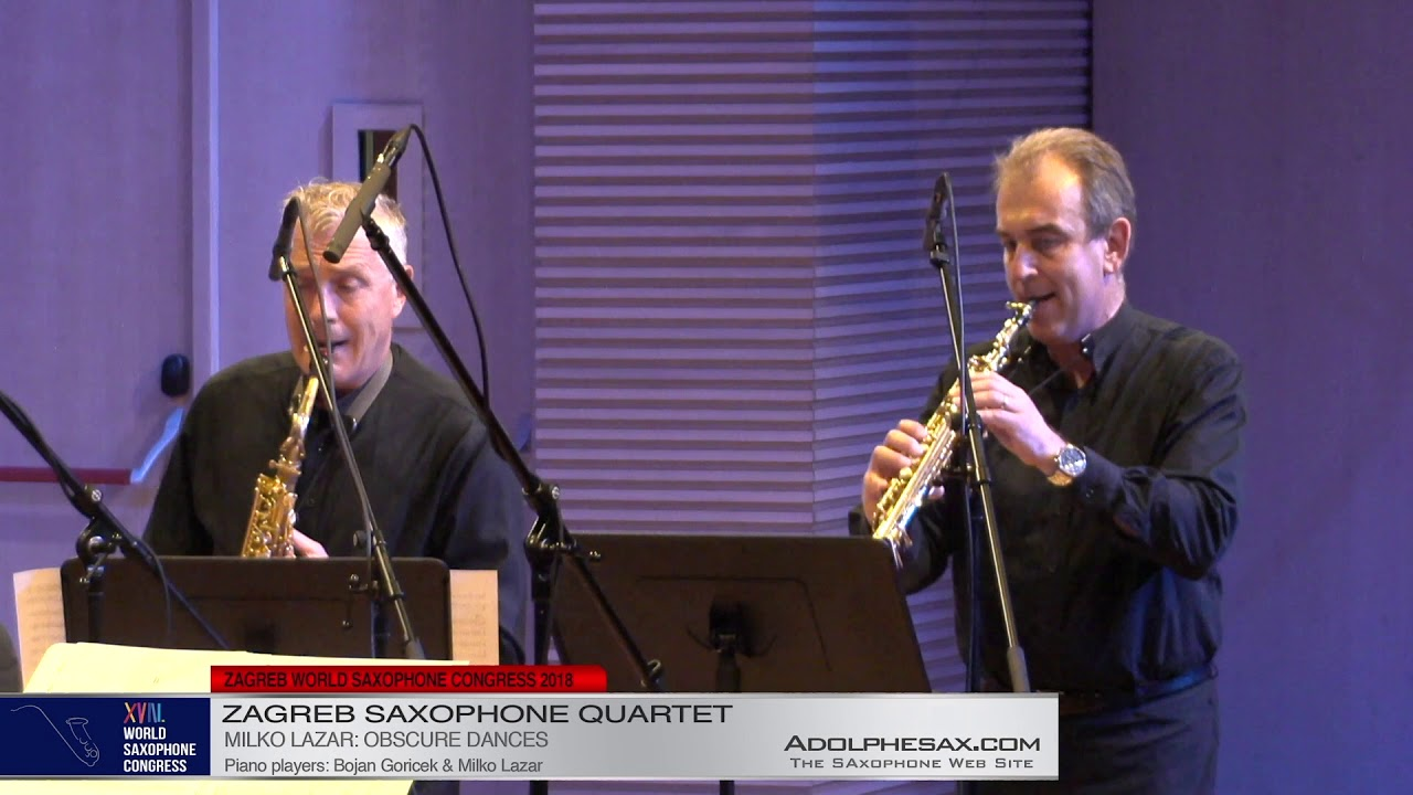 Obscure Dances by Milko Lazar    Zagreb Saxophone Quartet   XVIII World Sax Congress 2018