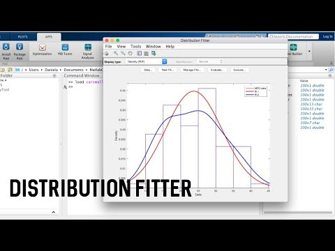 Fit Distributions To Data In MATLAB