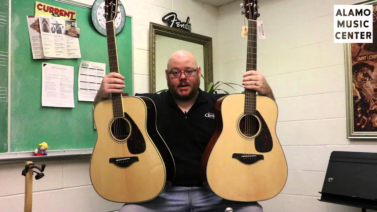 yamaha fg700s vs fg800 parison youtube
