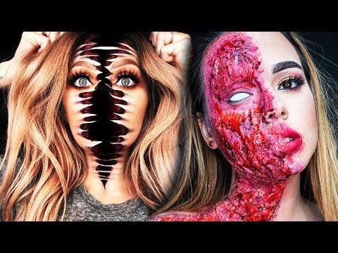 20 Cool DIY Halloween Makeup IDEAS + GRWM DYI Costumes 2018