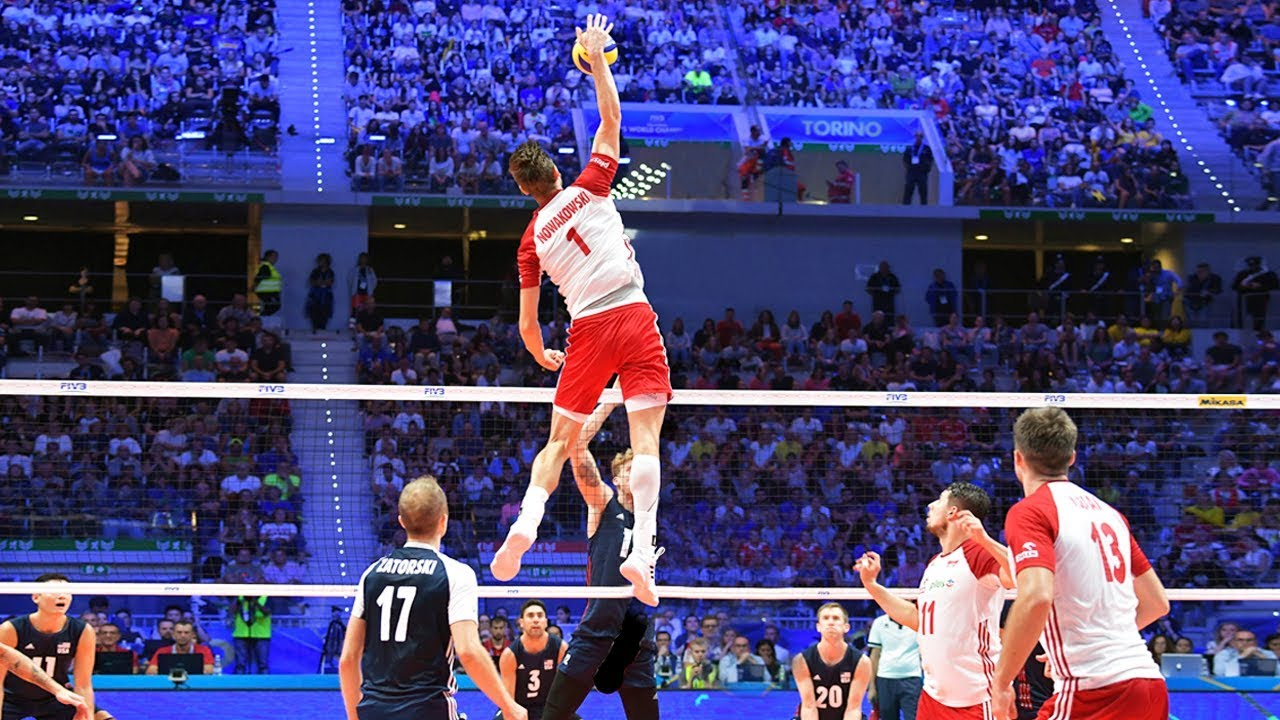 TOP 40 MONSTER Volleyball 3rd Meter Spikes   Mens World ...