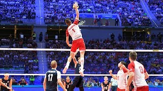 TOP 40 MONSTER Volleyball 3rd Meter Spikes | Mens World Championship 2018