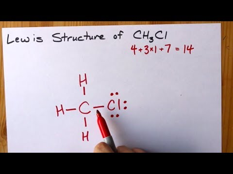 How To Draw The Lewis Structure Of CH3Cl (chloromethane)