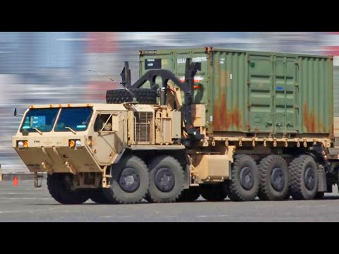 U.S. Army Palletized Load System Trucks - Military Truck Time Lapse