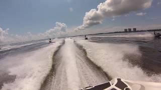 Lulu's to Crab Island Cantina with the Skis.  FudPokerRun 2017
