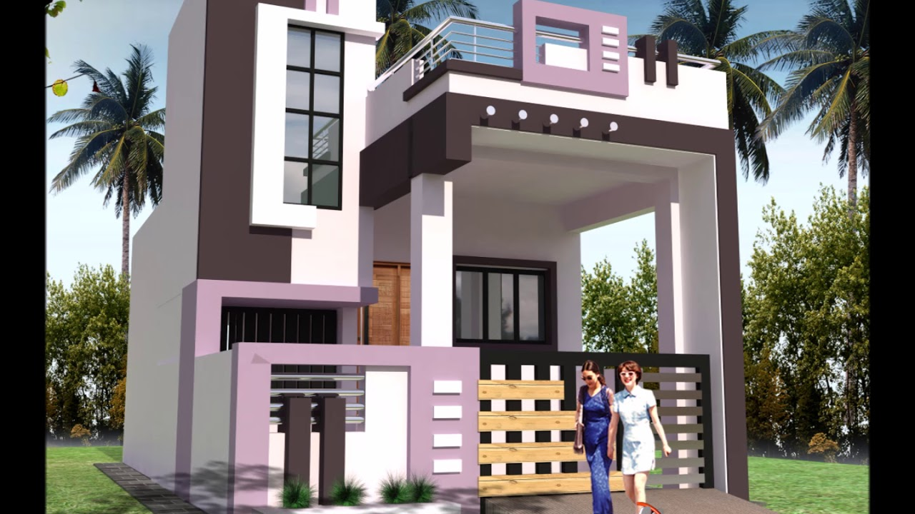 Front Elevation Design For 20 Feet : Front elevations of small house youtube