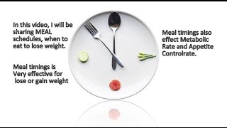 Amazing Weight Loss Tips | Weight Loss Diet Plan | Timing for Food Intake | खाने का सही समय