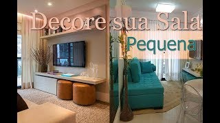 Como Decorar Sala Pequena | Por Maryane Nunes